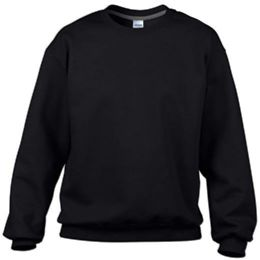 36 Units of Gildan Mens Black Irregular Fleece Sweat Shirts Size L - Mens Sweat Shirt