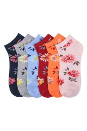 432 Units of Women's Printed Casual Spandex Ankle Socks Size 9-11 - Womens Ankle Sock