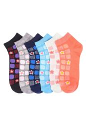 432 Units of Girls Tile Printed Ankle Socks - Girls Ankle Sock