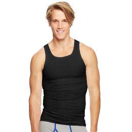 Hanes Classics Men's Black Tagless Comfortsoft Dyed A-Shirt 4-Pack Size L - Mens T-Shirts