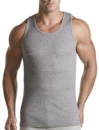 Hanes Classics Men's Gray TAGLESS ComfortSoft Dyed A-Shirt 4-Pack SIZE L - Mens T-Shirts