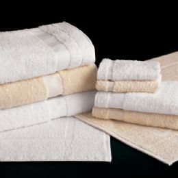 12 Units of Heavy Weight White Cotton Poly Bath Towel Size 20x40 - Bath Towels