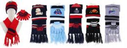 72 Units of Kids 3 Piece Winter Set , Hat Glove Scarf Ages 5-10 - Winter Care Sets