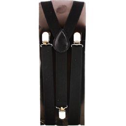 12 Units of KIDS SOLID BLACK SUSPENDERS - Suspenders
