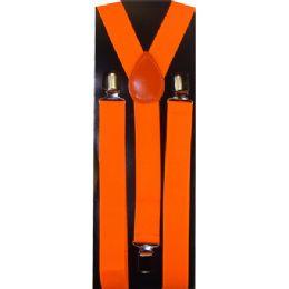 12 Units of KIDS SOLID ORANGE SUSPENDERS - Suspenders