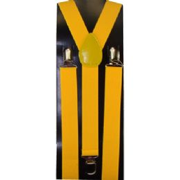 12 Units of Kids Solid Yellow Color Suspenders - Suspenders