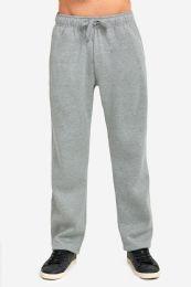 12 Units of Knocker Mens Heavy Weight Fleece Sweatpants In Heather Grey Size Medium - Mens Sweatpants