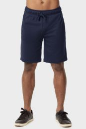 12 Units of Knocker Mens Lightweight Terry Shorts In Navy Size Large - Mens Shorts