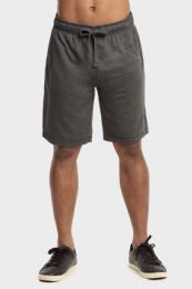 12 Units of Knocker Mens Lightweight Terry Shorts In Charcoal Grey Size Large - Mens Shorts