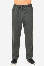 12 Units of Knocker Mens Slim Fit Fleece Heavy Weight Sweat Pants Charcoal Grey In Size Medium - Mens Sweatpants