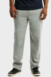 12 Units of Knocker Mens Slim Fit Fleece Hevy Weight Sweat Pants Heather Grey In Size Large - Mens Sweatpants