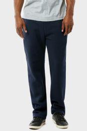 12 Units of KNOCKER MENS SLIM FIT FLEECE HEAVY WEIGHT SWEAT PANTS NAVY IN SIZE LARGE - Mens Sweatpants