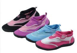 36 Units of Ladies' Aqua Socks Size 6-11 Assorted Colors - Women's Aqua Socks