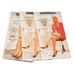 72 Units of Ladies Golden Legs Sheer Pantyhose In Black Queen Size - Womens Pantyhose