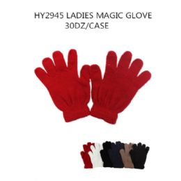 200 Units of Ladies Magic Gloves Assorted Gloves - Knitted Stretch Gloves