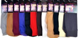 72 Units of Ladies' Trouser Socks In Dark Beige One Size - Womens Crew Sock