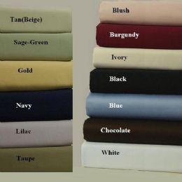 Land of Cleopatra Cotton Sheet Sets In King Size Burgandy - Sheet Sets