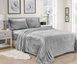 12 Units of Lavana Soft Brushed Microplush Bed Sheet Set Queen Size Assorted Color - Sheet Sets