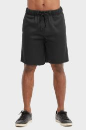 12 Units of Libero Mens Fleece Shorts In Black Size Medium - Mens Shorts