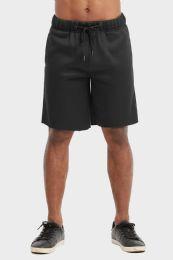 12 Units of Libero Mens Fleece Shorts In Black Size Xx Large - Mens Shorts