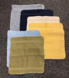 24 Units of Light Blue Colored Durable Wash Cloth - Bath Towels