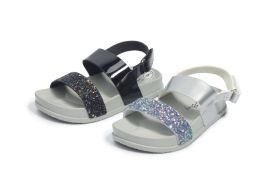 12 Units of Little Kid's Sandals In Grey - Girls Sandals