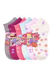 432 Units of GIRLS ANKLE SOCKS CUTIE DESIGN SIZE 4-6 - Girls Ankle Sock