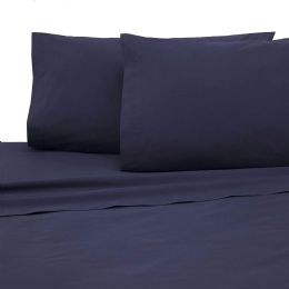 12 Units of Martex King Size Colored Flat Sheet Heavy Weight And Durable In Navy - Sheet Sets