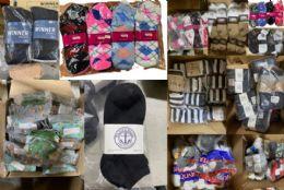 1200 Units of Mega Sock Pallet Deal Mens Woman And Children Mix Socks - All Kinds Of Socks Bulk Buy - Men's Socks for Homeless and Charity