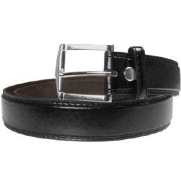 48 Units of Men Belt Large Black - Mens Belts