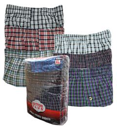 360 Units of Men's 3 Pack Cotton Boxer Shorts, Size X LARGE - Mens Underwear