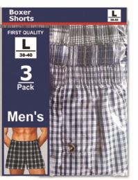 48 Units of Men's 3 Pack Boxer Shorts Size Xlarge - Mens Underwear
