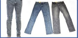 24 Units of Men's Fashion Jeans In Faded Blue - Mens Jeans