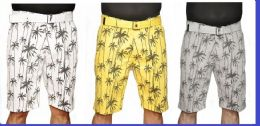 24 Units of MEN'S FASHION PRINTED PALM TREE CHINO SHORT - Mens Shorts