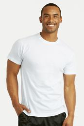 72 Units of Men's First Quality White T Shirts Size M - Mens T-Shirts