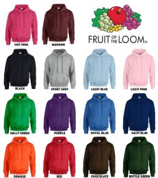 24 Units of Men's Fruit Of The Loom Irregular Hoodies ,size 2xl - Mens Sweat Shirt