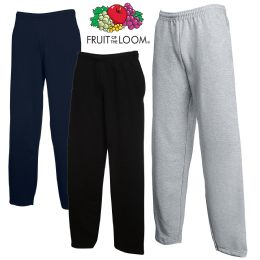 24 Units of Men's Fruit Of the Loom Sweatpants, Size Large BULK BUY - Mens Clothes for The Homeless and Charity