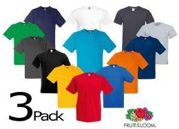 24 Units of Men's Fruit Of the Loom V Neck Shirt, Size Medium - Mens T-Shirts