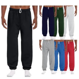 144 Units of Men's Gildan Sweatpants Assorted Sizes And Colors - Mens Pants