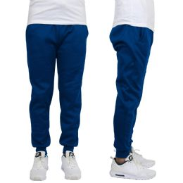 24 Units of Men's Heavy Weight Joggers In Royal Blue Size L - Mens Sweatpants