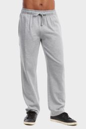 36 Units of MEN'S LIGHTWEIGHT FLEECE SWEATPANTS IN HEATHER GREY SIZE M - Mens Sweatpants