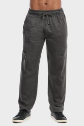 36 Units of MEN'S LIGHTWEIGHT FLEECE SWEATPANTS IN CHARCOAL SIZE L - Mens Sweatpants