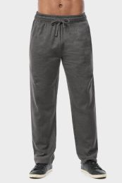 24 Units of Men's Mediumweight Fleece Sweatpants In Charcoal Size M - Mens Sweatpants