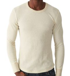 36 Units of Men's Natural Color Thermal Underwear Top , Size L - Mens Thermals