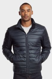 12 Units of MEN'S PUFF JACKET IN NAVY SIZE LARGE - Mens Jackets