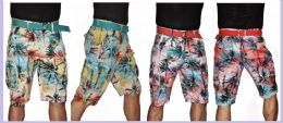24 Units of MEN'S TROPICAL PRINTED CARGO SHORT - Mens Shorts