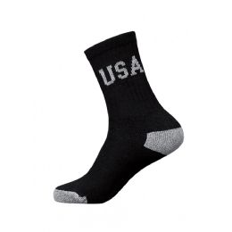 240 Units of Youth Usa Logo Crew Socks Size 9-11 - Boys Crew Sock