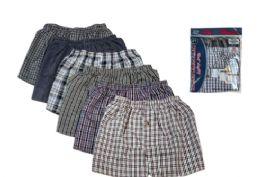 36 Units of Men Woven Plus Size Boxer Shorts Size 4XL - Mens Underwear