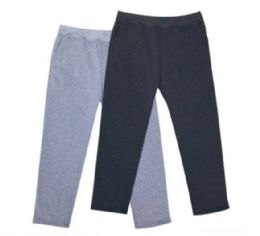48 Units of Mens Athletic Pants Size Large In Black And Grey - Mens Pants