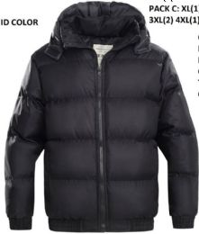 24 Units of Mens Bubble Winter Coat Plus Sizes - Men's Winter Jackets